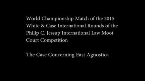 Thumbnail for entry Jessup Cup World Championship - 2015