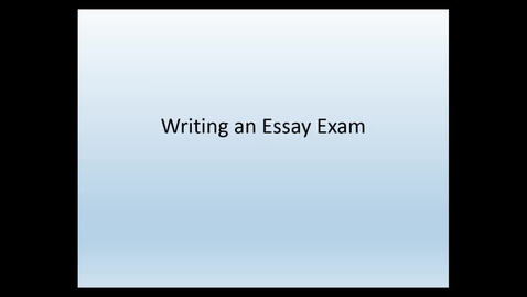Thumbnail for entry Writing a law school essay exam