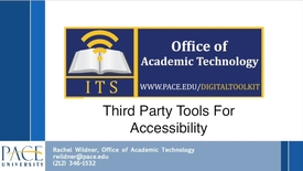 Thumbnail for entry Accessibility Video 3 - Third Party Tools