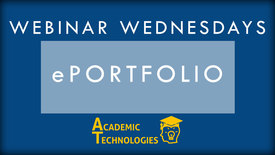Thumbnail for entry ePortfolio - Webinar Wednesdays 10-28-15