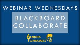 Thumbnail for entry Blackboard Collaborate - Webinar Wednesday 1-10-16
