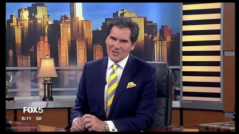 Thumbnail for entry Pace President Marvin Krislov and student Gabe Rivera on Fox 5 NY