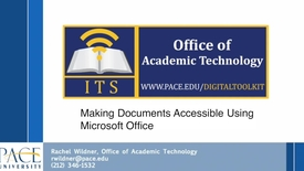 Thumbnail for entry Accessibility Video 2- Accessible Documents using Microsoft Office