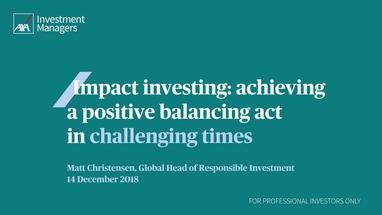 Impact investing - AXA IM UK Institutional