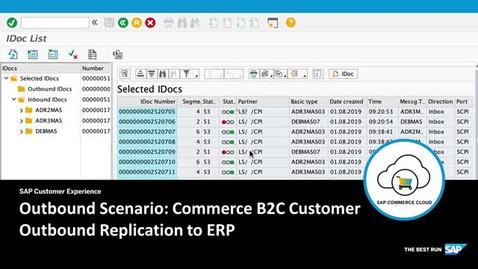 Thumbnail for entry B2C Customer Outbound Replication to ERP - SAP Commerce Cloud