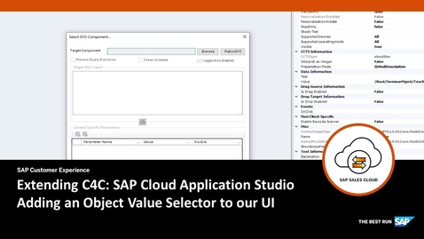 Thumbnail for entry Adding an Object Value help selector - Extending SAP Cloud for Customer