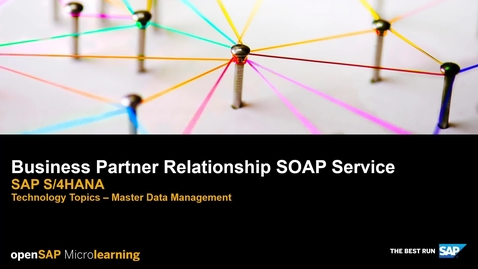 Thumbnail for entry Business Partner Relationship SOAP Service - SAP S/4HANA