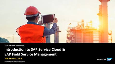 Thumbnail for entry Introduction to SAP Service Cloud & SAP Field Service Management - SAP Service Cloud