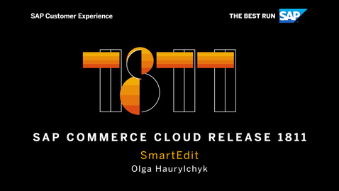 Thumbnail for entry SmartEdit - SAP Commerce Cloud Release 1811