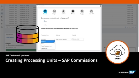 Thumbnail for entry Creating Processing Units - SAP Commissions