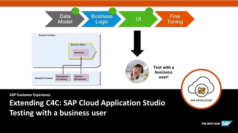 Thumbnail for entry Testing with a Business user - Extending SAP Cloud for Customer