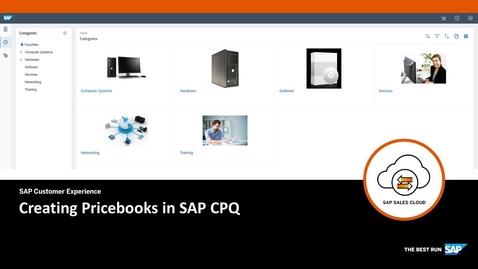 Thumbnail for entry Creating Pricebooks - SAP CPQ