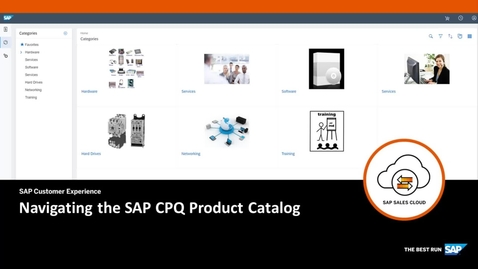 Thumbnail for entry Navigating the SAP CPQ Product Catalog