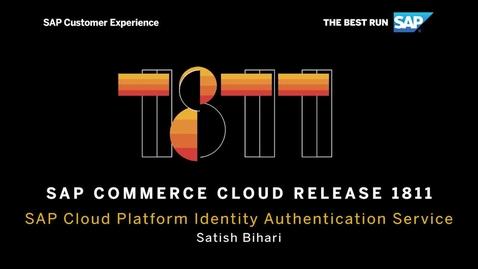 Thumbnail for entry SAP Cloud Platform Identity Authentication Integration - SAP Commerce Cloud Release 1811