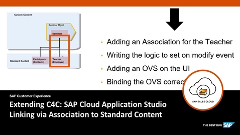 Thumbnail for entry Creating an Association for the Business Object - Extending SAP Cloud for Customer