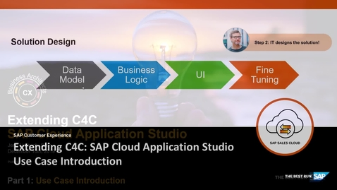 Thumbnail for entry Overview of SAP Cloud Application Studio - Extending SAP Cloud for Customer
