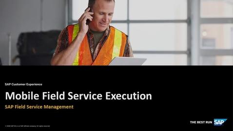 Mobile App - Field Service Management - SAP Service Cloud