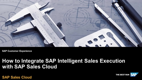Thumbnail for entry How to Integrate SAP Intelligent Sales Execution with SAP Sales Cloud