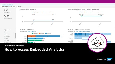 How to Access Embedded Analytics - SAP Marketing Cloud