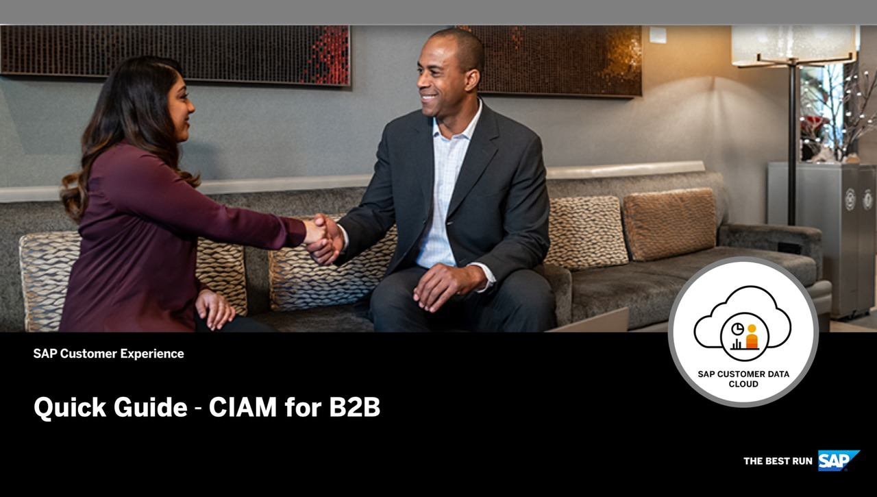 Quick Guide - CIAM for B2B - SAP Customer Data Cloud