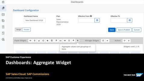 Thumbnail for entry Dashboards: Aggregate Widget - SAP Sales Cloud: SAP Commissions