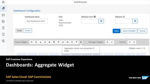 Thumbnail for entry Dashboards: Aggregate Widget - SAP Sales Cloud: SAP Commissions