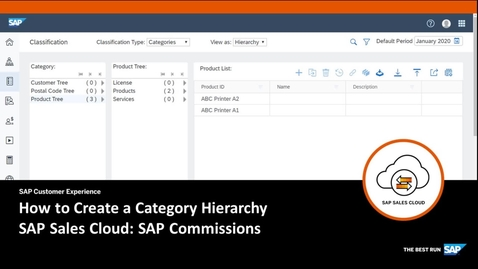 Thumbnail for entry How to Create a Category Hierarchy - SAP Sales Cloud