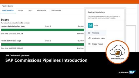 Thumbnail for entry Pipelines Introduction - SAP Sales Cloud: SAP Commissions