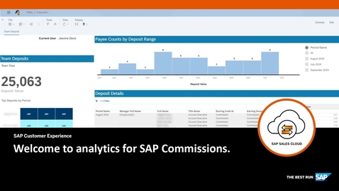 Thumbnail for entry Welcome to analytics for SAP Commissions