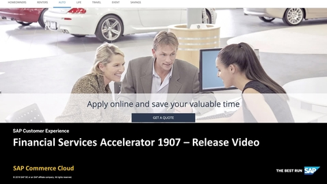 Thumbnail for entry Financial Services Accelerator 1907 Release Video - SAP Commerce Cloud