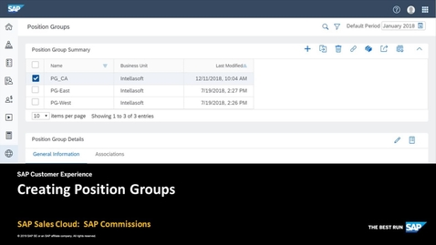 Thumbnail for entry Creating Position Groups - SAP Sales Cloud: SAP Commissions