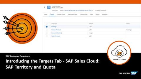 Thumbnail for entry Introducing the Targets Tab in SAP Territory and Quota