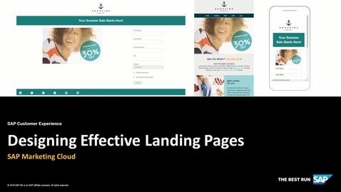 Designing Effective Landing Pages - SAP Marketing Cloud