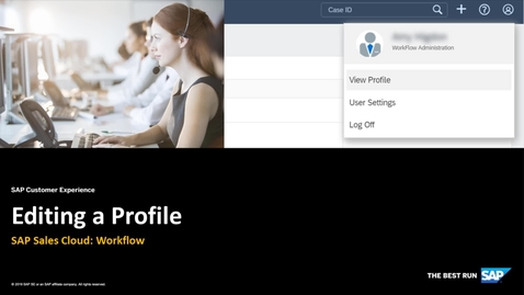 Thumbnail for entry Editing a Profile - SAP Sales Cloud: Workflow