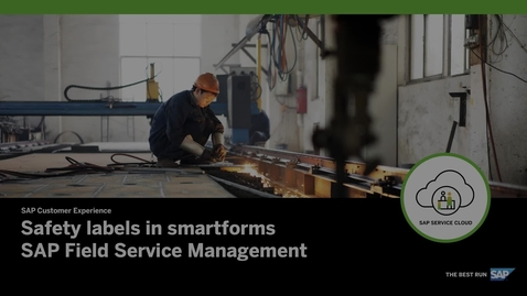 Thumbnail for entry How to Include Safety Labels within Smartforms – SAP Field Service Management
