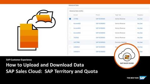Thumbnail for entry How to Upload and Download Data in SAP Territory and Quota