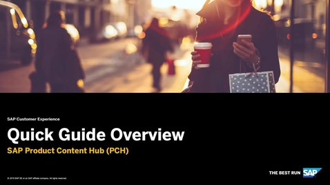 Thumbnail for entry [ARCHIVED] PCH Overview  - SAP Commerce Cloud: SAP Product Content Hub