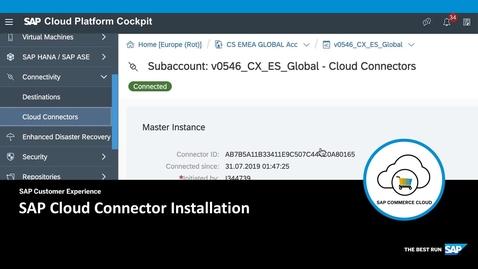 Thumbnail for entry SAP Cloud Connector Installation - SAP Commerce Cloud