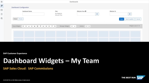 Thumbnail for entry Commissions Dashboards -  MyTeam Widget - SAP Sales Cloud: SAP Commissions