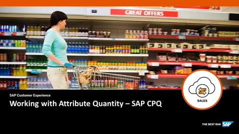 Thumbnail for entry Working with Attribute Quantity - SAP CPQ