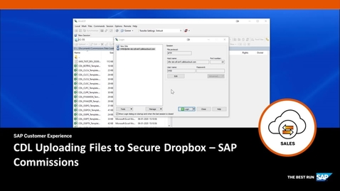 Thumbnail for entry CDL Uploading Files to Secure Dropbox - SAP Commissions