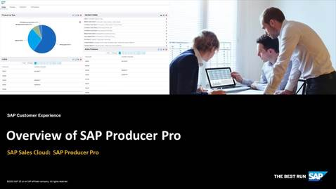 Thumbnail for entry Overview of SAP Producer Pro
