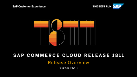 Thumbnail for entry Overview - SAP Commerce Cloud Release 1811