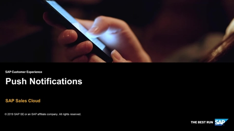 Thumbnail for entry Push Notifications for Workflows - SAP Sales Cloud