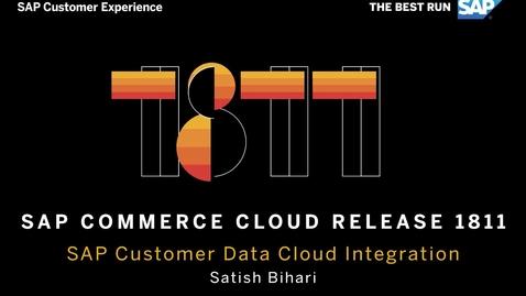 Thumbnail for entry SAP Customer Data Cloud Integration - SAP Commerce Cloud Release 1811