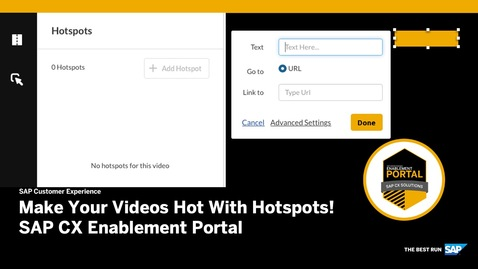 Thumbnail for entry Hotspot Release Video - SAP CX Enablement Portal