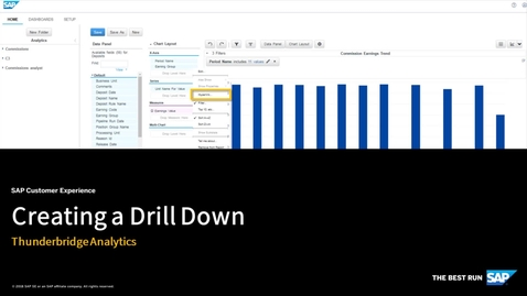 Thumbnail for entry Creating a Drill Down in Thunderbridge Analytics - SAP Sales Cloud