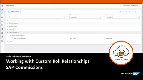 Thumbnail for entry Working with Custom Roll Relationships - SAP Commissions