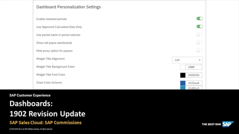 Thumbnail for entry Dashboards: 1902 Revision Update - SAP Sales Cloud: SAP Commissions