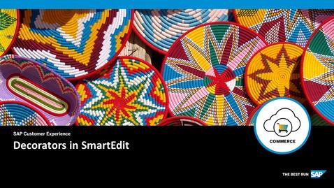 Thumbnail for entry Decorators in SmartEdit - SAP Commerce Cloud